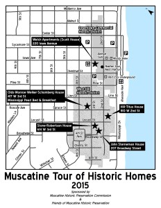 2015 Muscatine Historic Home Tour Map